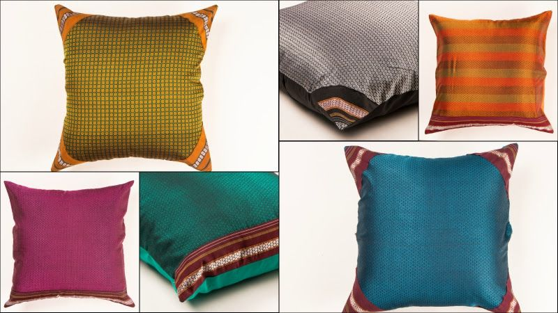 Handloom Khun Fabric Cushion Covers Cushion Covers Cushion Covers Online Cushions