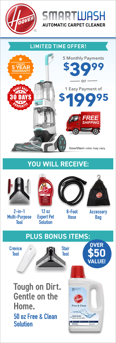 Hoover® SmartWash™ Our Best Cleaning Carpet Washer