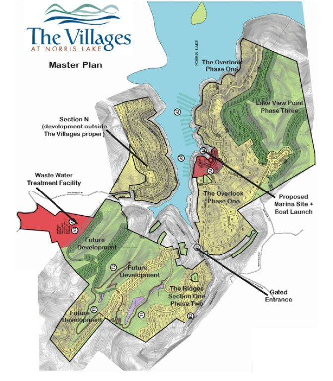 Norris Lake Tennessee Map.The Villages At Norris Lake Norris Lake Tennessee The Villages