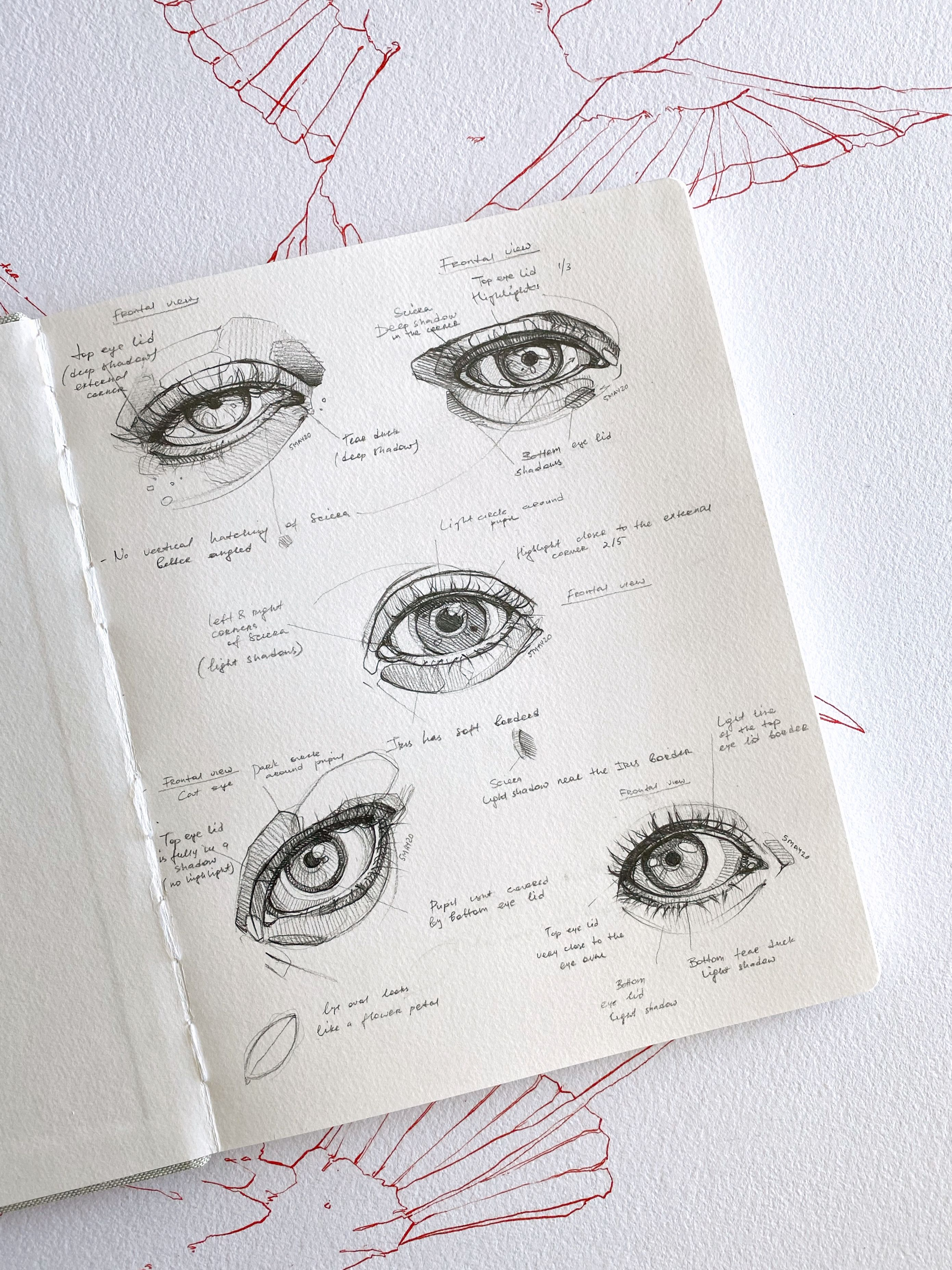 Eyes practice by Polina Bright