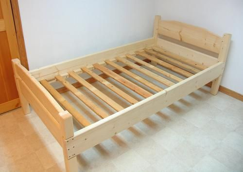 How Made Twin Wood Frame And Finally The Bed All Embled For Slats I Used