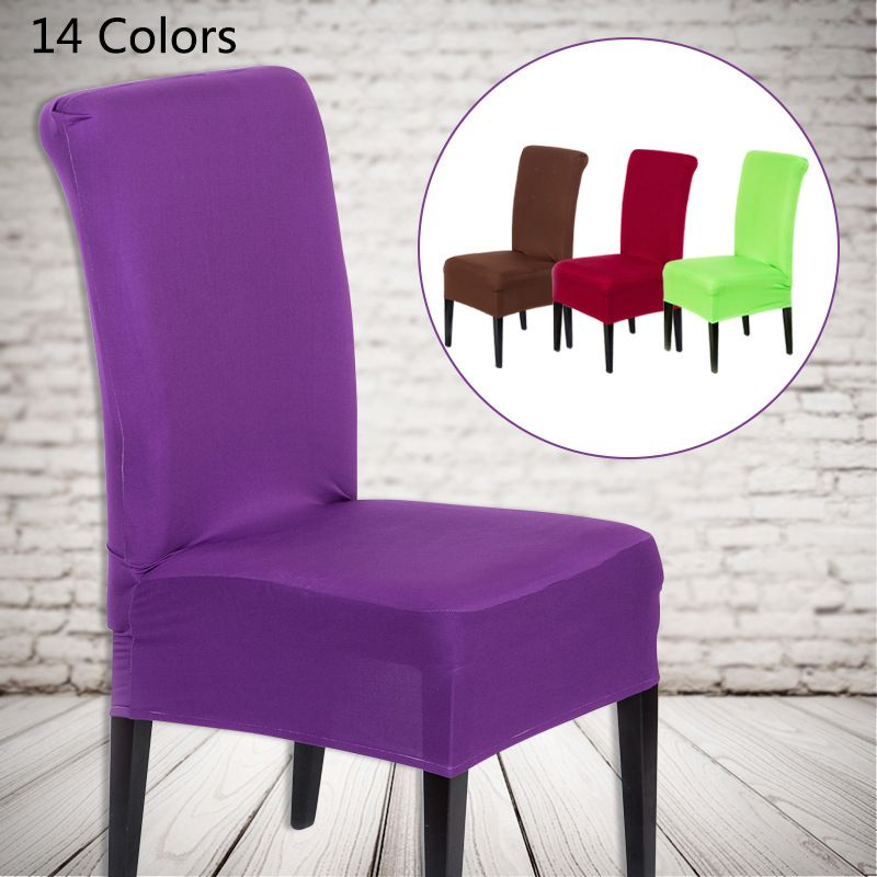 Great 1pc New Spandex Colorful Elastic Cloth Chair Covers Universal Stretch Chair  Cover Home Dining Elastic Chair