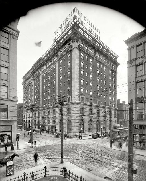 """Louisville, Kentucky, circa 1907. """"Seelbach Hotel."""" My sister and I were born in Louisville. Not in that hotel or certainly not in that year."""