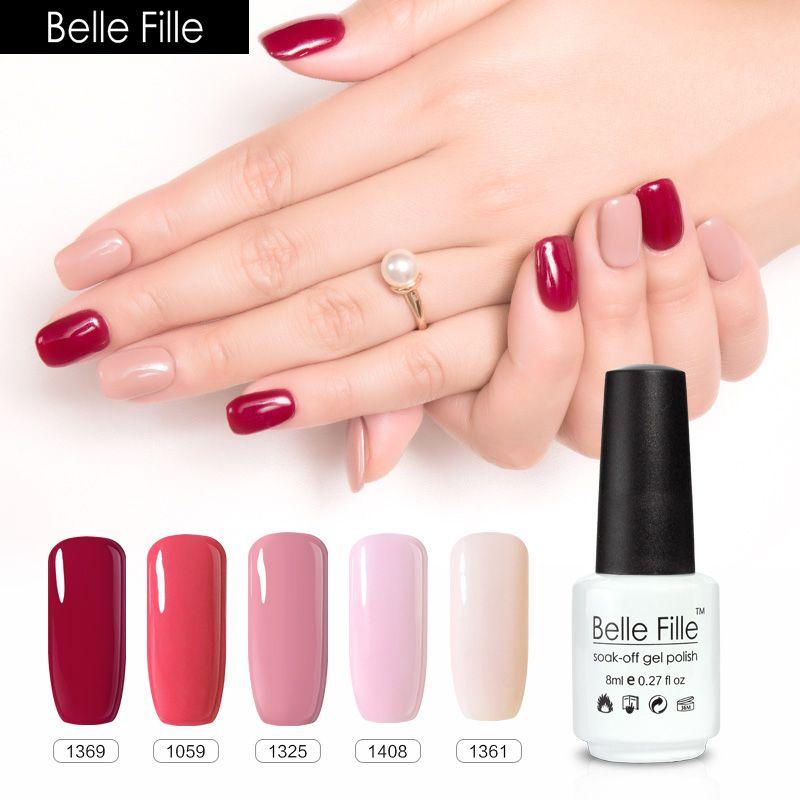 Belle Fille Nude Gel Nail Polish UV Fingernail Polish Flesh ...