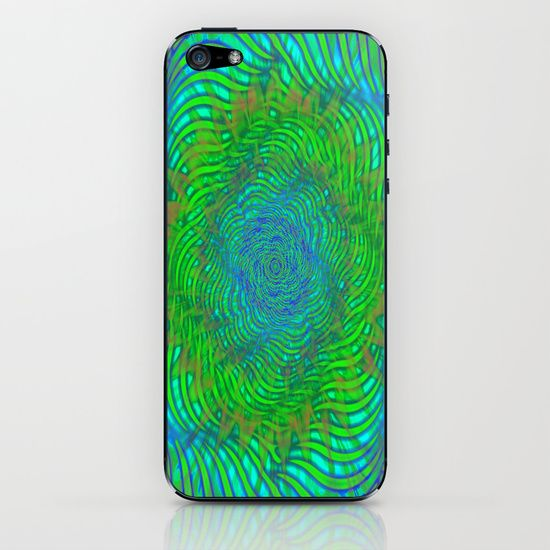 Hypnotica #2 Warping Optical Illusion iPhone & iPod Skin