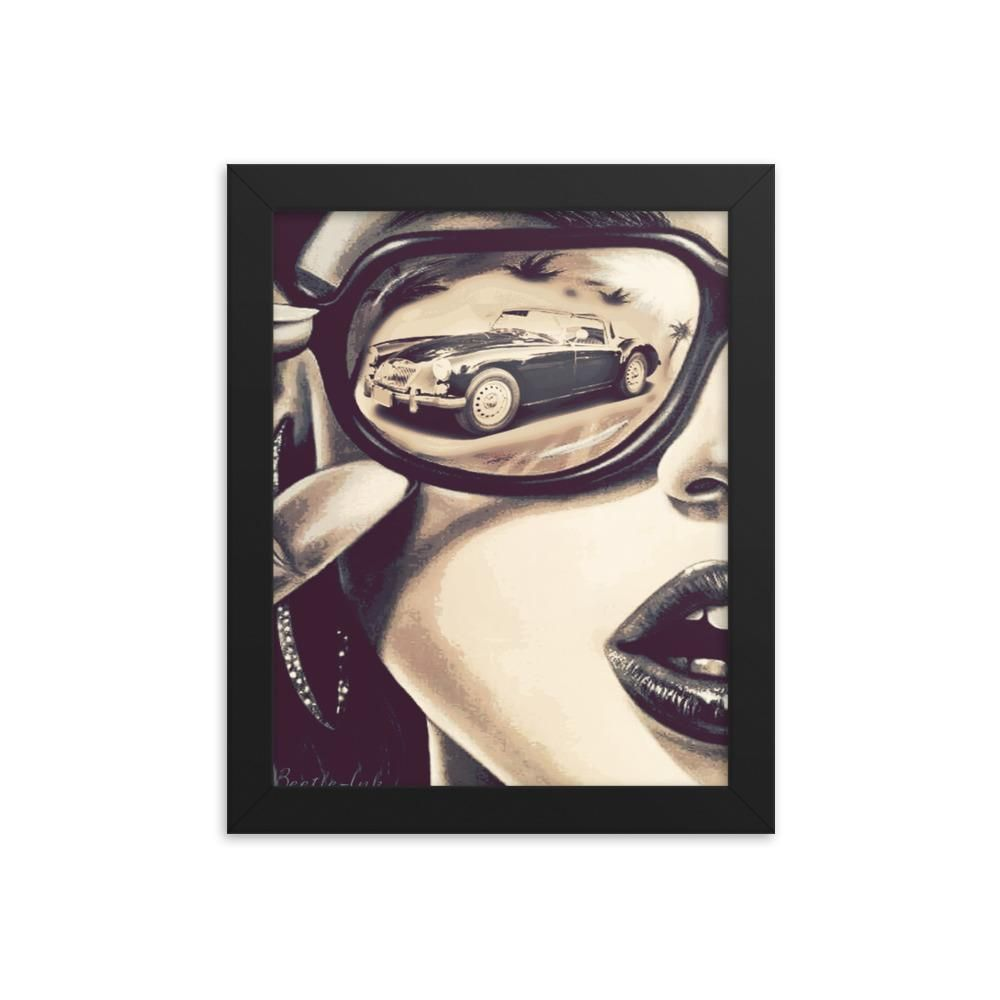 Classic Car Retro Framed poster
