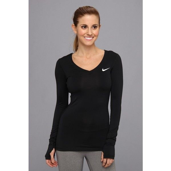 ab018e2d Nike Pro Long-Sleeve Women's Long Sleeve Pullover ($35) ❤ liked on Polyvore