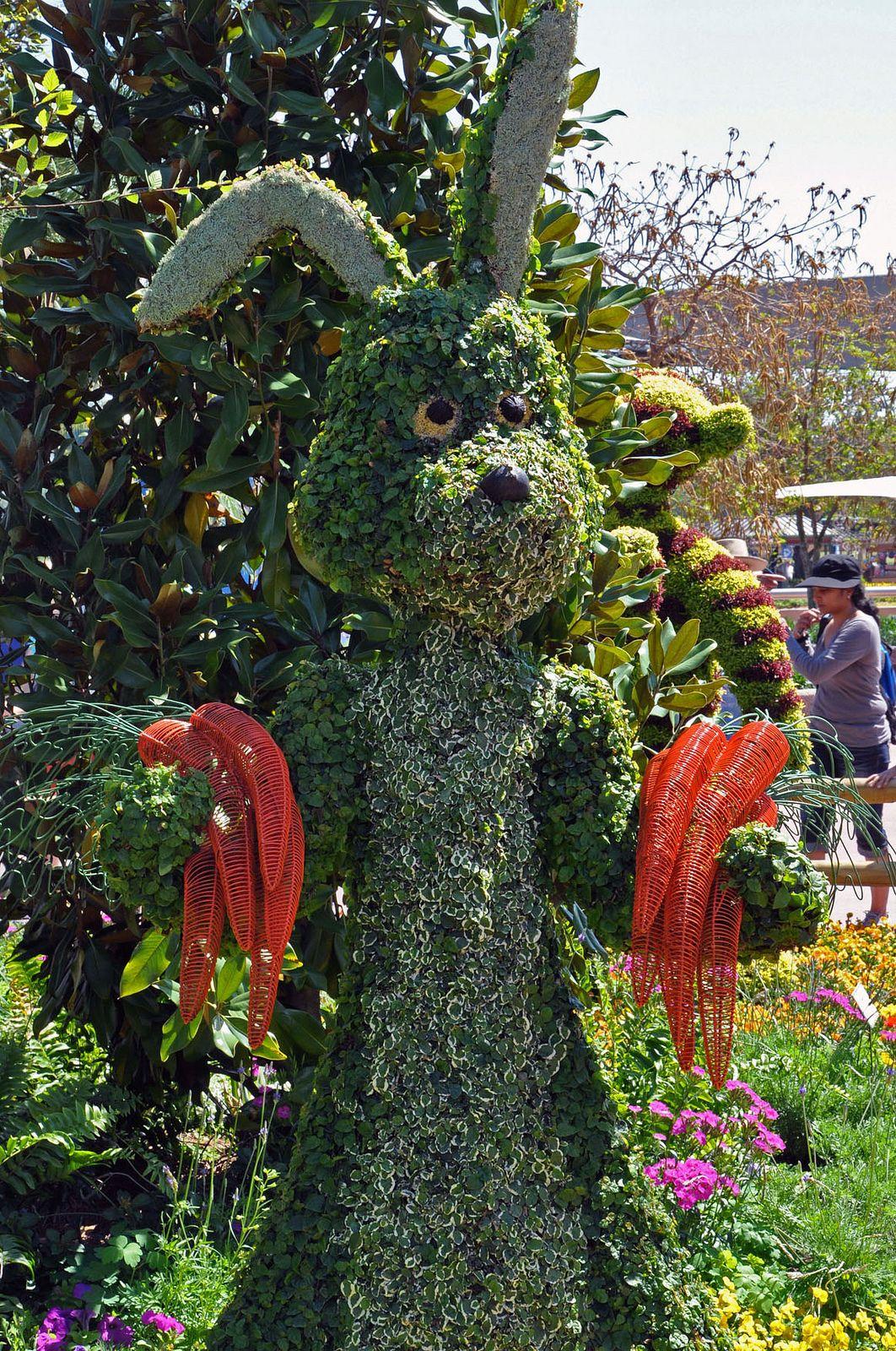Rabbit Topiary The Epcot International Flower U0026 Garden Festival 2011 At  Walt Disney World In Florida.