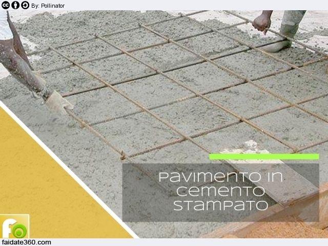 Pavimento in cemento stampato cemento stampato - Cemento colorato per esterno ...