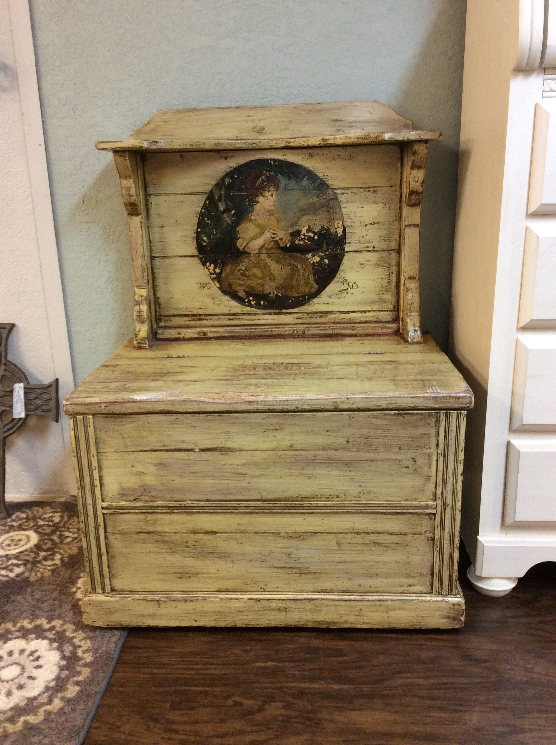 Charming Vintage Style Grain Toy Box Could Be Used As A Small Bench Or Simply As An Accessory Piece That Provides Am Toy Boxes Home Furnishings Storage Spaces