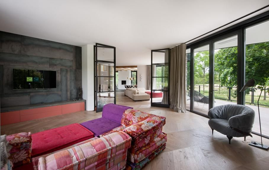 Atelier moderne villa atelier architectuur villa vloer