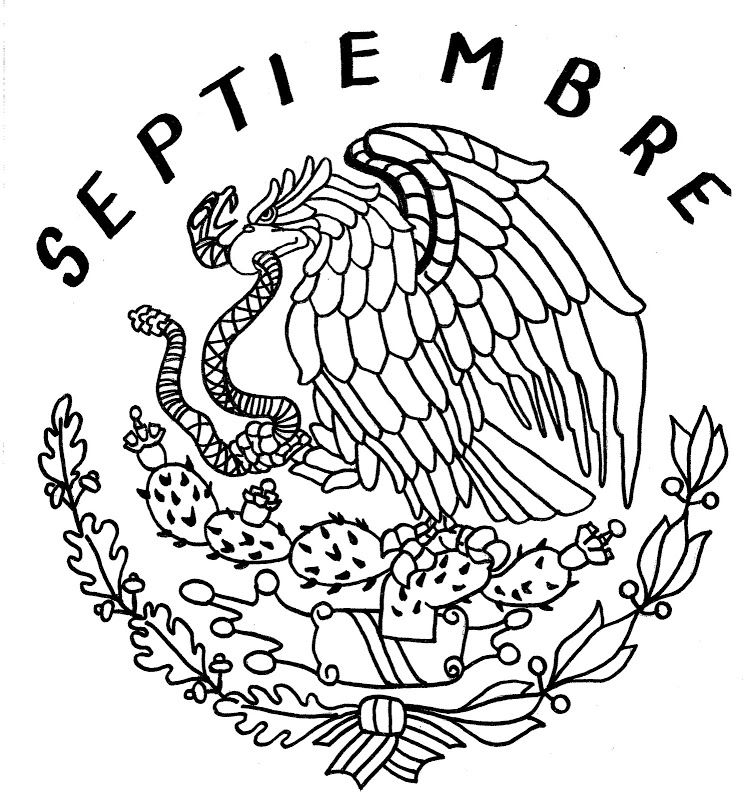 Mexico S Shield Coloring Pages Mexican Eagle Coloring Pages Flag Coloring Pages