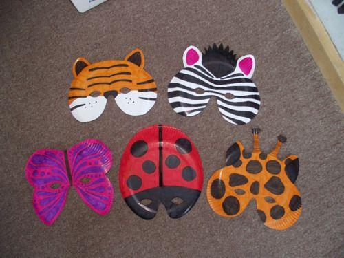 paper plate insect/animal masks | artwalk kids | Pinterest | Animal ...