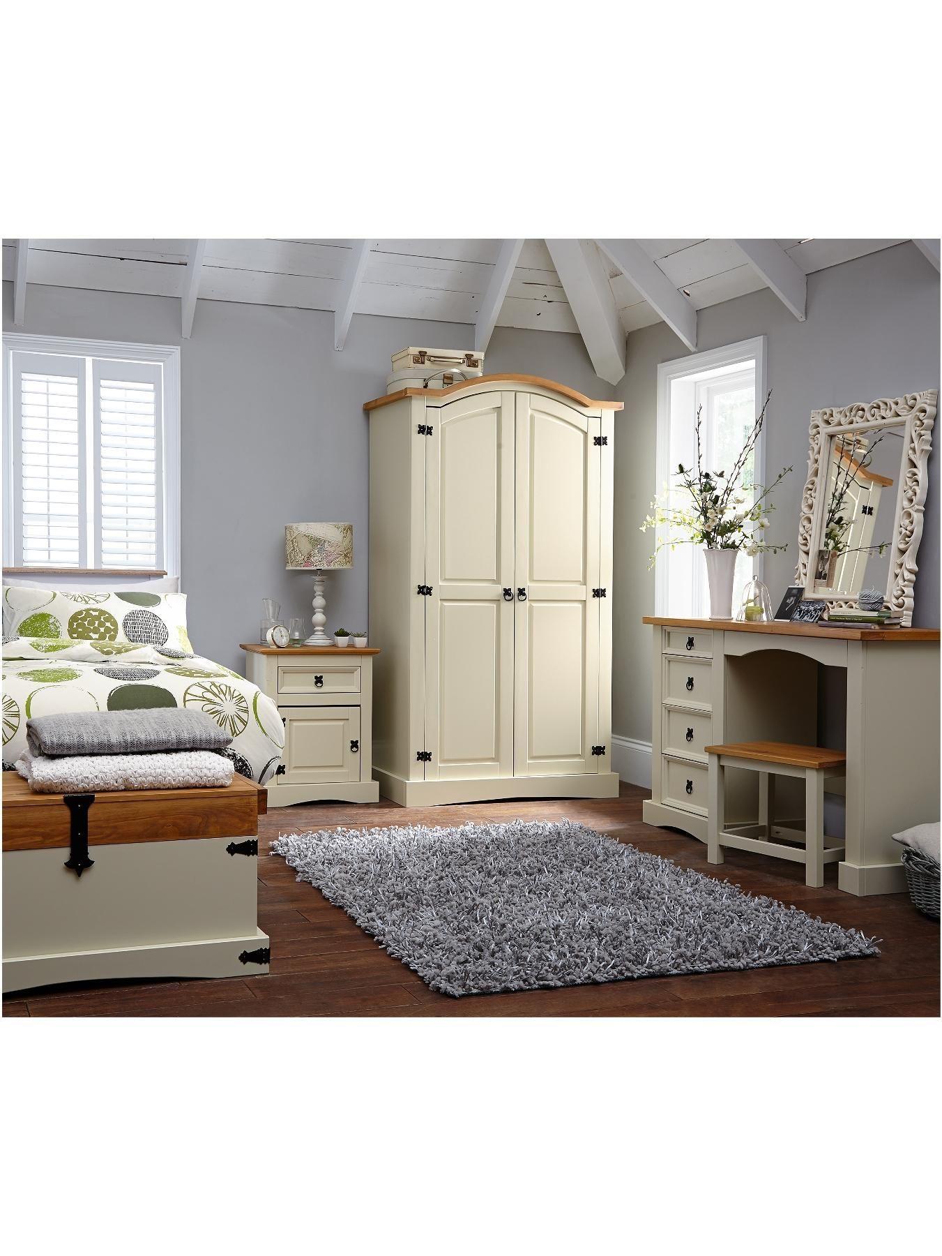 Corona Painted 2 Door Wardrobe Very Co Uk Men Swardrobefurniture Corona Furniture Pine Bedroom Furniture Rustic Living Room Furniture