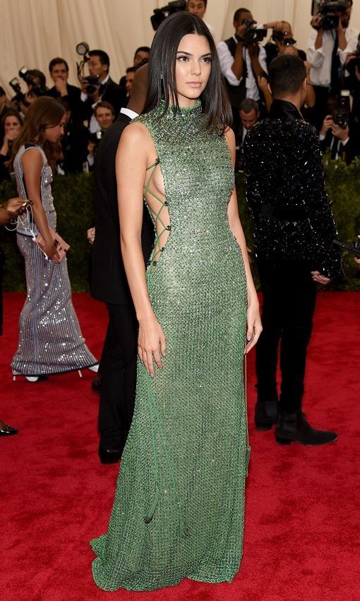 85435670982 Kendall Jenner Green Celebrity Dress Prom Met Gala 2015 Red Carpet ...