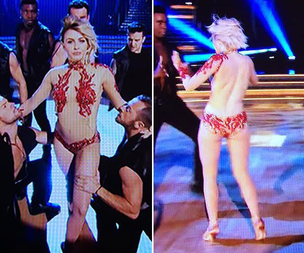 Julianne Hough Gets Nearly Naked on Dancing with the
