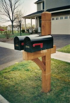 Double Mailbox Post Mailbox74 Jpg Stand Diy Metal