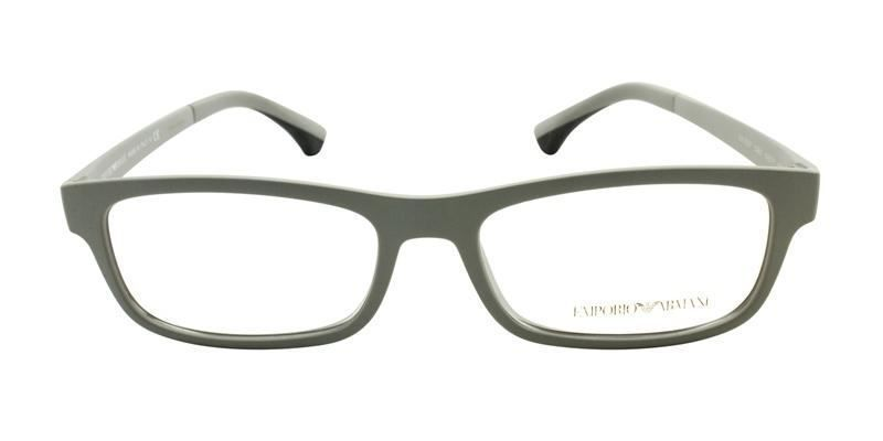 d2a3569f529 Emporio Armani Men s EA3037 Gray   Clear Lens Glasses  fashion  clothing   shoes