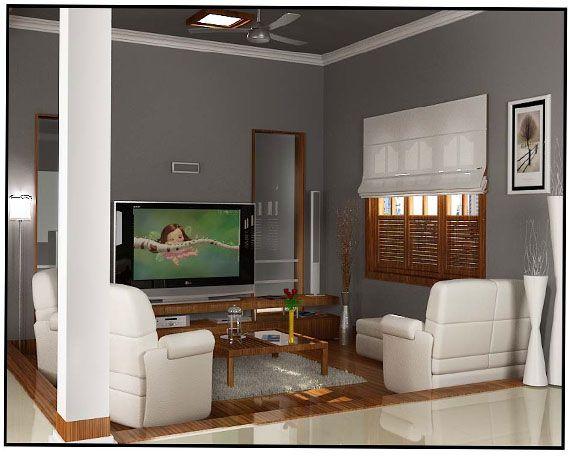 TV room Interior work of Mathew and saira Cochin architect