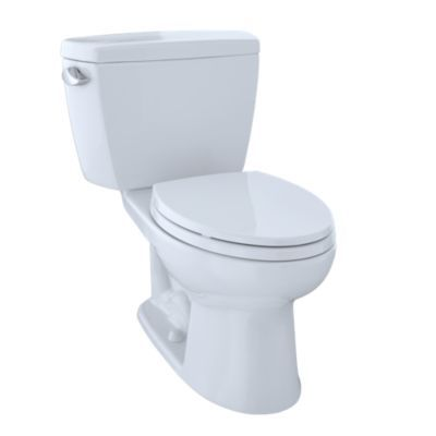 This commercial-grade two-piece toilet combines transitional design ...