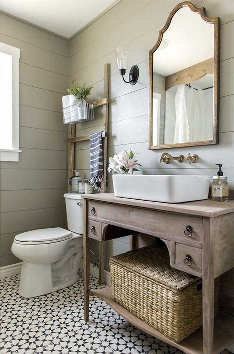 51 Industrial Rustic Master Bathroom Design Ideas For A