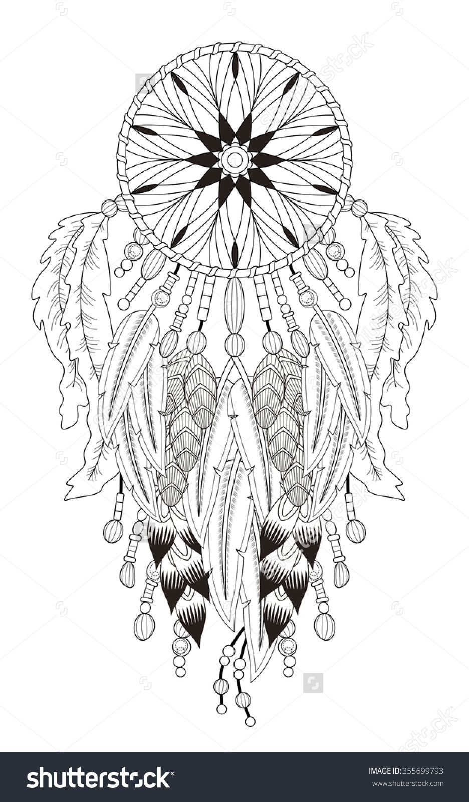 Pin von Ann Armstrong auf coloring pages | Pinterest | Traumfänger ...