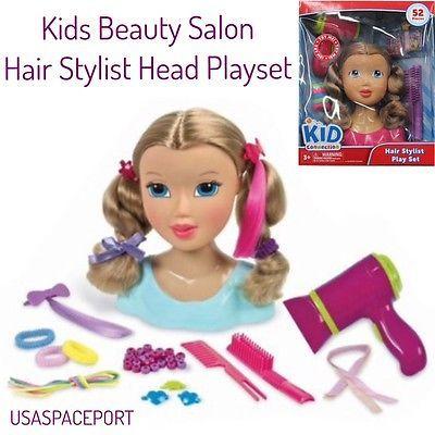 Girls 50piece Beauty Salon Hair Stylist Head Kids Practice Fashion Model Design Ebay Kids Connection Kid Connection Toys Beauty Kids