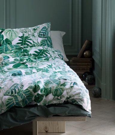 Bettwäsche Aus Feinfädiger Baumwolle Mit Musterdruck Der Bettbezug