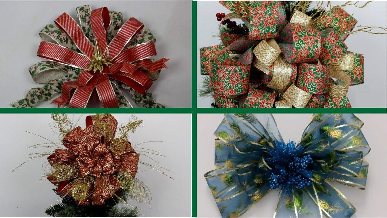 Como Hacer Un Moño De Navidad Para El Pino Facil Moños Para El Arbol D Arbol De Navidad Manualidades Monos De Navidad Cinta De árbol De Navidad