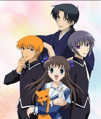 Fruits basket Tohru,Yuki,Kyo,and Shigure