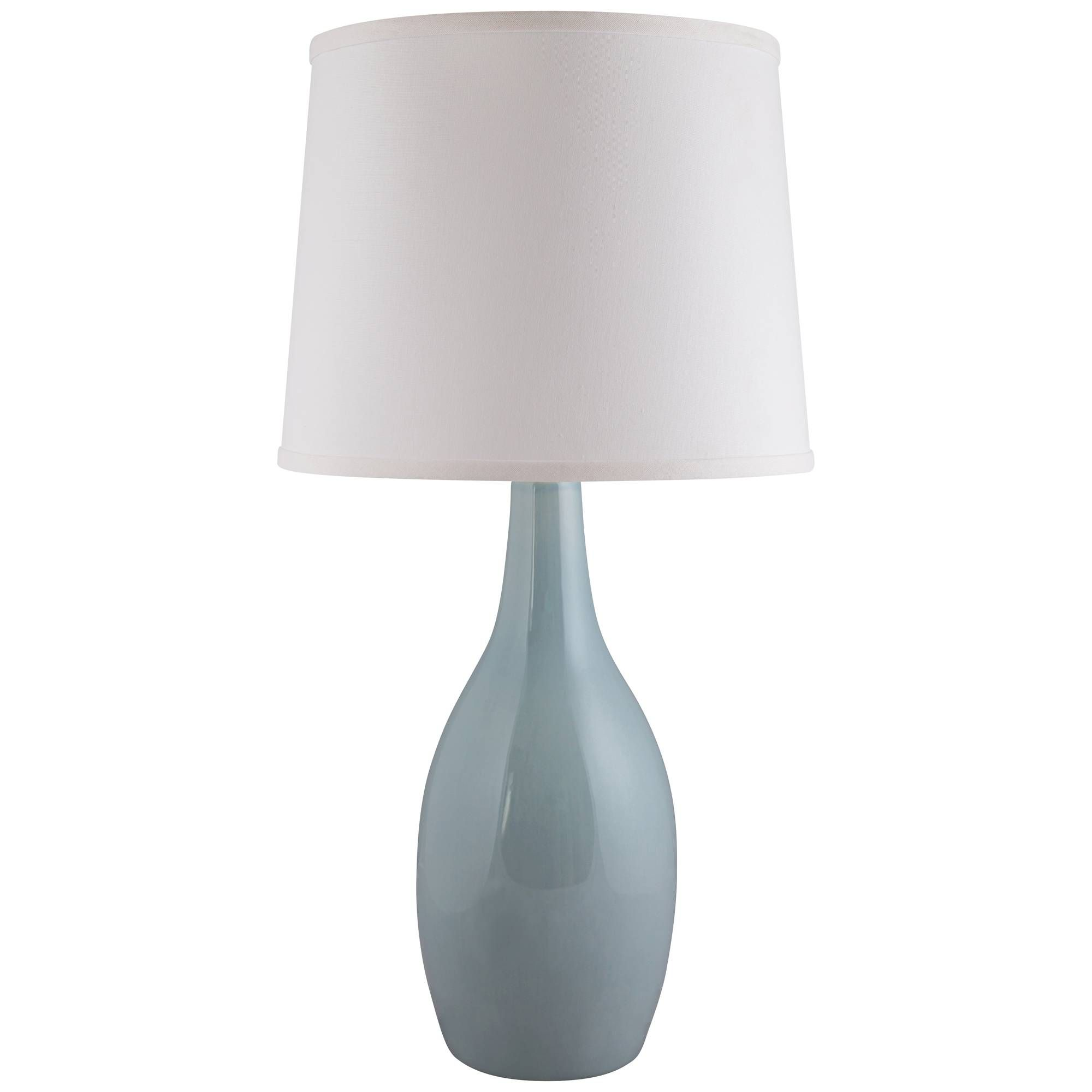 Arby mist blue gloss droplet ceramic table lamp aloadofball Images