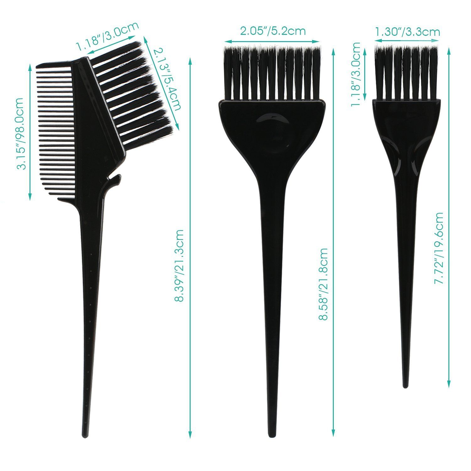 7pcs Feather Bristles Hair Color Brushes On Hair Dye Diy