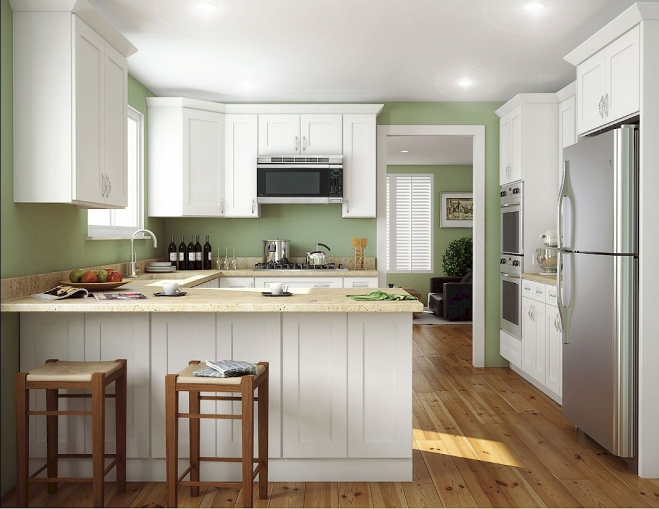 125 Stuning Kitchen Cabinets Design Ideas And Remodel To Inspire Your Kitchen Kitchend White Shaker Kitchen Kitchen Cabinet Styles Assembled Kitchen Cabinets