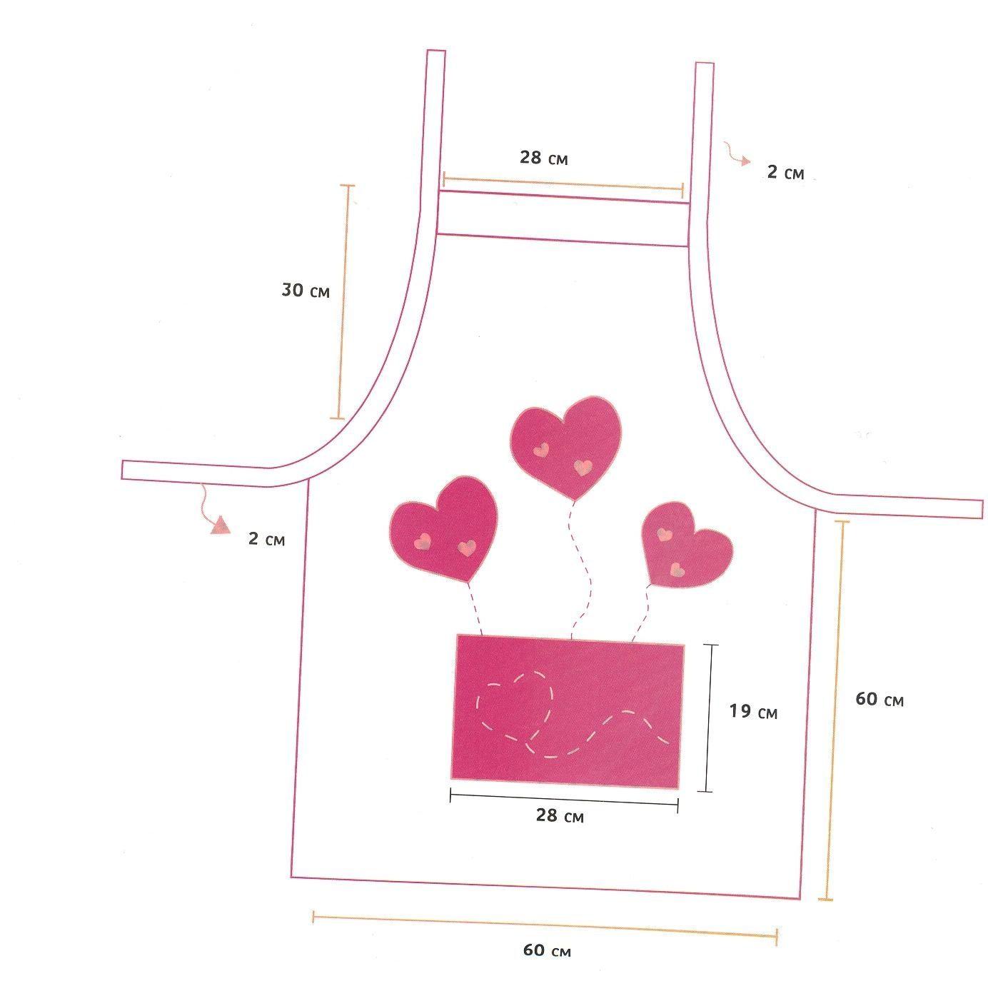 Delantal y toalla de cocina manualidades de hogar for Moldes de cocina