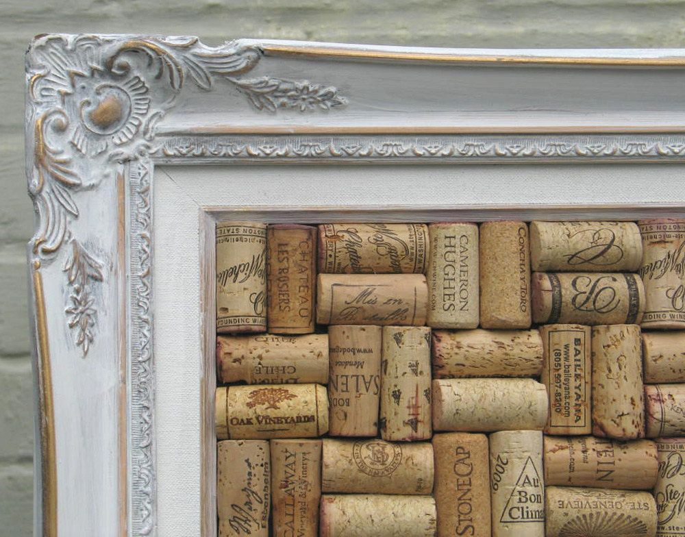 how to make a bulletin board using wine corks find a unique frame cut a piece of peg board. Black Bedroom Furniture Sets. Home Design Ideas