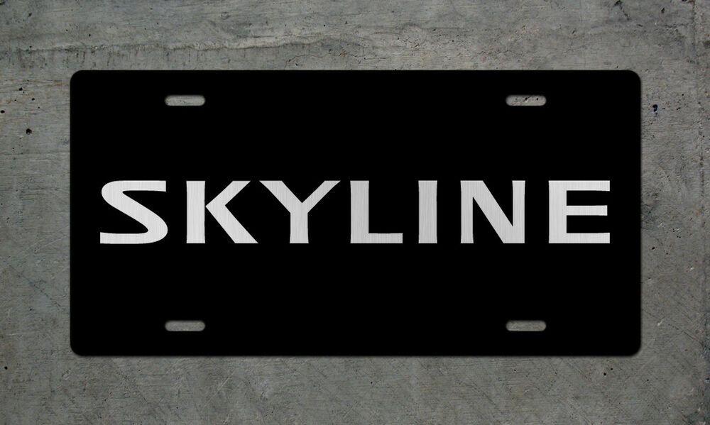 Skyline GTR Nissan Aluminum License Plate, Auto Tag, JUKE