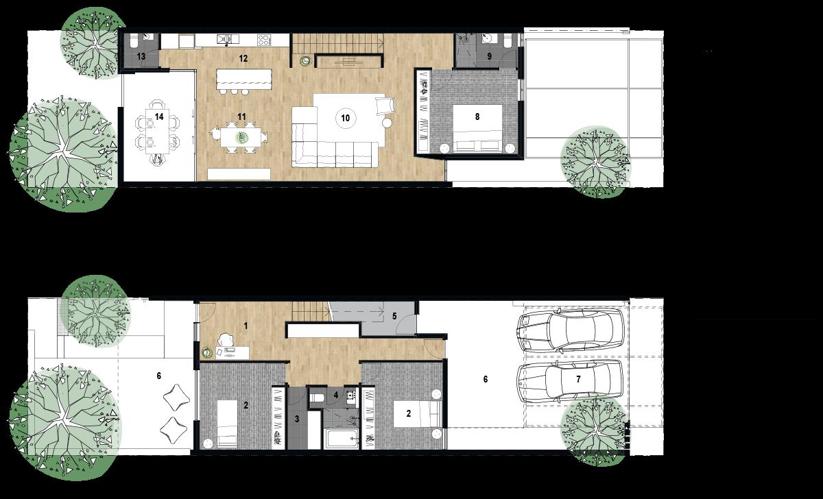 plan de la casa terraza