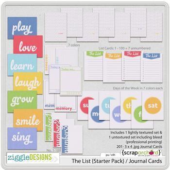 The List {Starter Pack} / Journal Cards