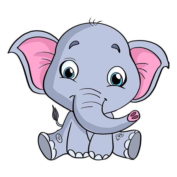 How To Draw A Baby Elephant Really Easy Drawing Tutorial Elephant Face Drawing Baby Elephant Drawing Easy Animal Drawings