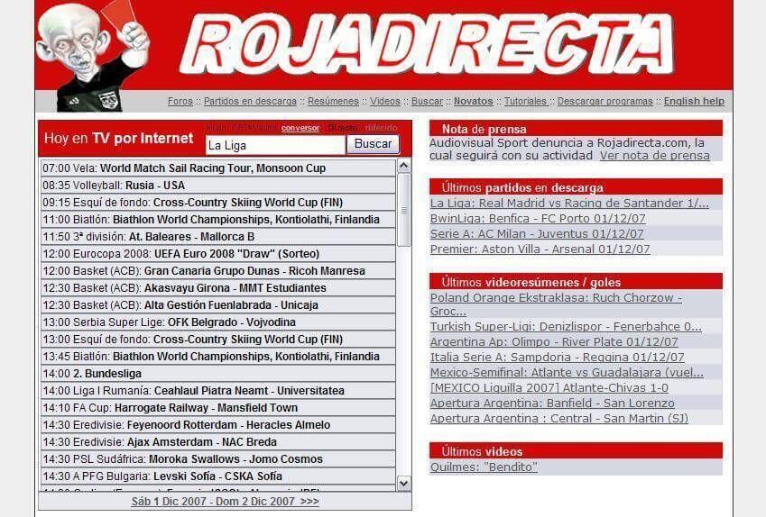 Rojadirecta Futbol Gratis Futbol En Vivo Ver Futbol
