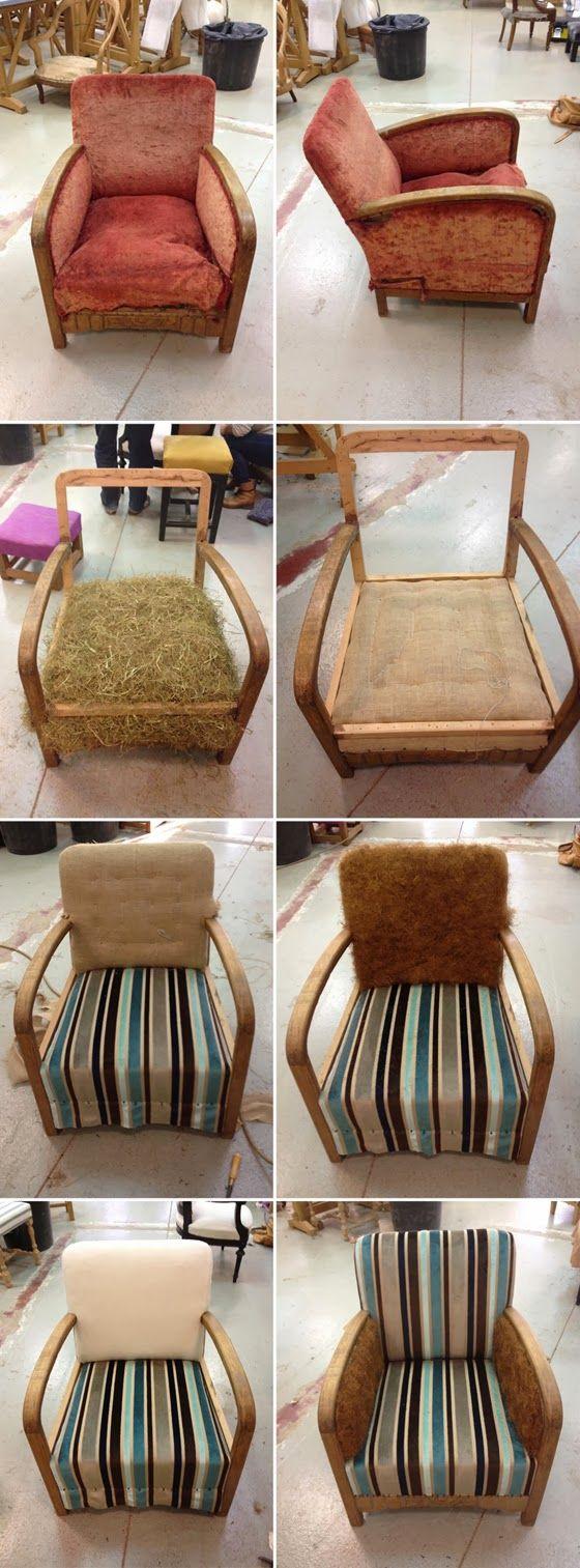 l 39 atelier de la marquise fauteuil club 30 39 s fauteuil reupholster furniture furniture. Black Bedroom Furniture Sets. Home Design Ideas
