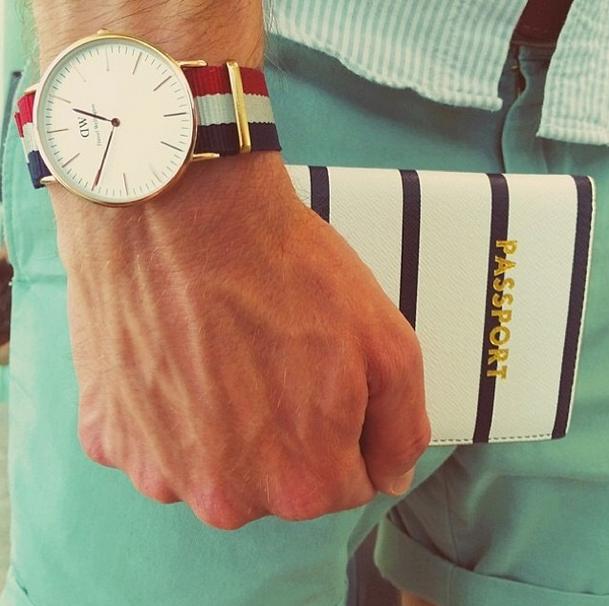 Travel essentials. Get the timepiece at www.danielwellington.com! #danielwellington #preppy #prepster #watch