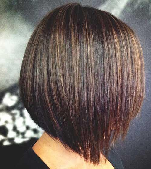 Pics Of Bob Haircuts Back View Bob Haircut And Hairstyle Ideas Dark Hair With Highlights Haircuts For Fine Hair Short Dark Hair