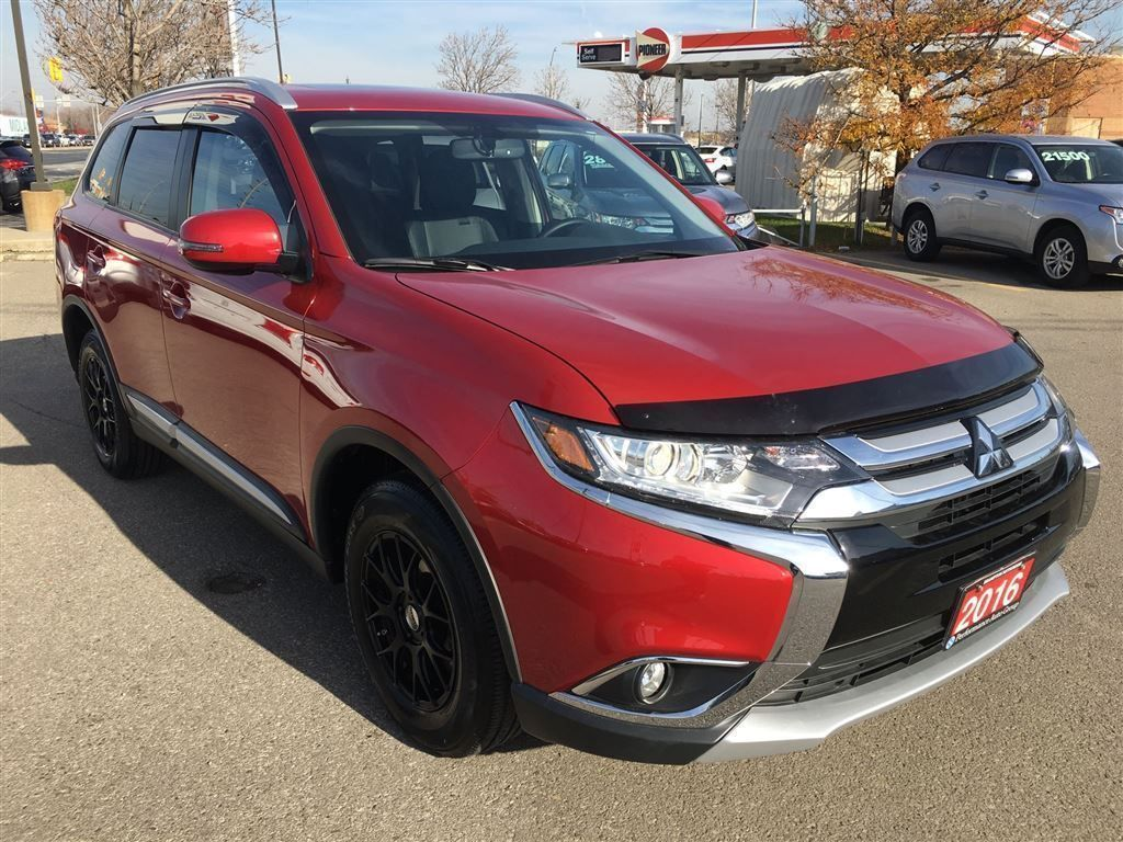 2016 mitsubishi outlander es premium leather interior sunroof suv