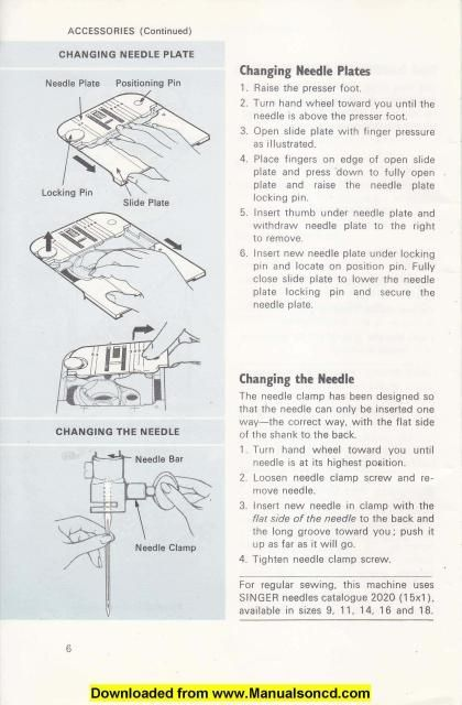 Singer 522 Sewing Machine Owners Instruction Manual Here are just - instruction manual
