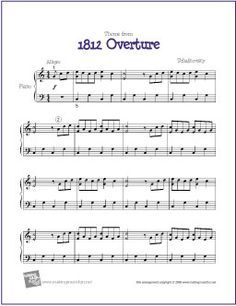 Theme From 1812 Overture With Images Easy Piano Sheet Music