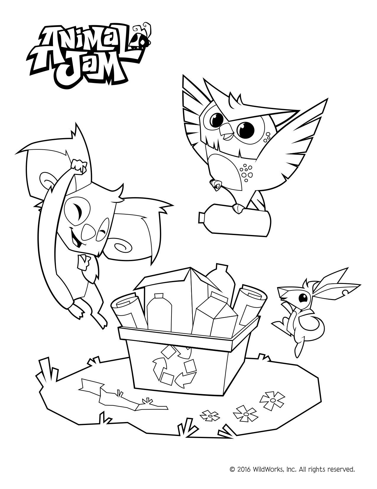 Animal Jam Coloring Pages Celebrate Spring And The Environment With This Free Download Birthday Coloring Pages Animal Jam Animal Coloring Pages