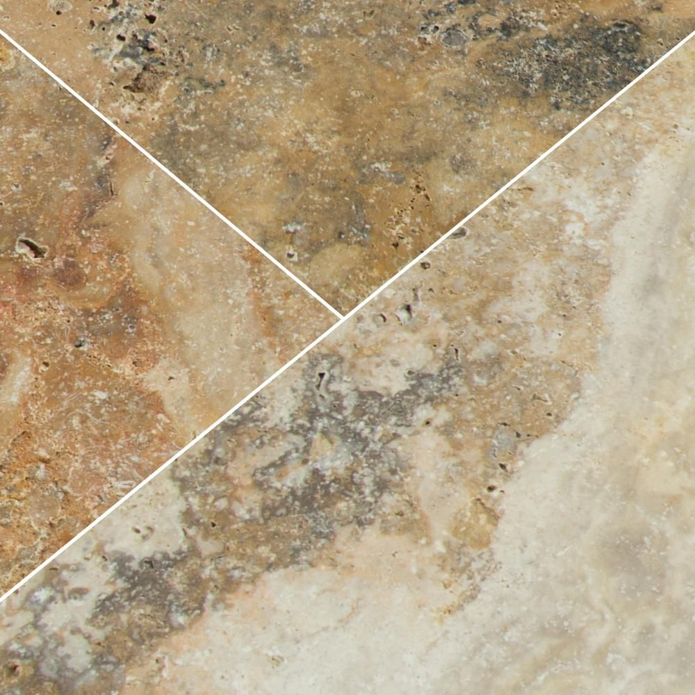 MSI Porcini 16 In. X 24 In. Tumbled Travertine Paver Tile