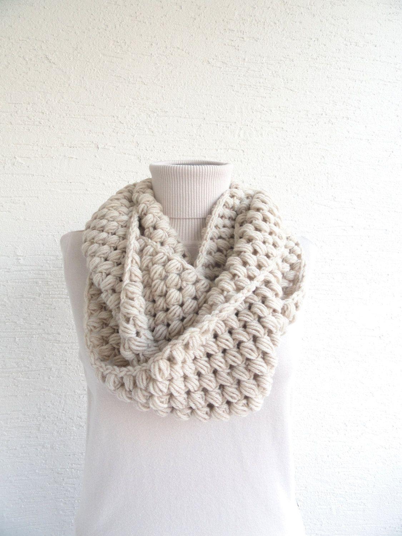 Crochet Scarf, Womens Infinity Scarf, Crochet Infinity Scarf Chunky ...
