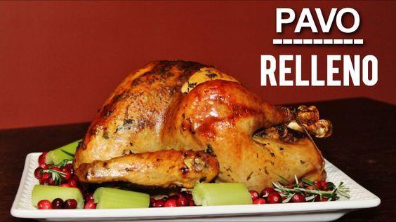Pavo Relleno Pavo Al Horno Receta Facil Explicada Paso A Paso Thanksgiving Dia De Accion De Gracias Na Pavo Relleno Recetas Con Pavo Pavo Navideño Receta